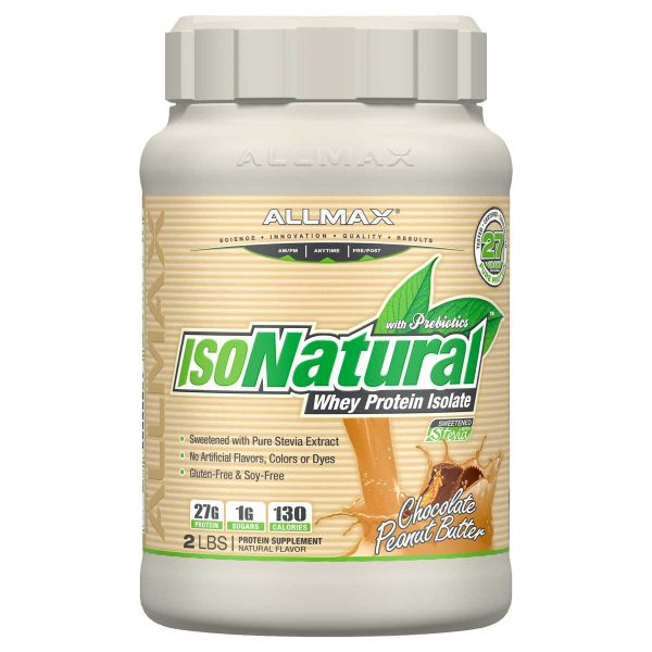 ISONATURAL WHEY PROTEIN PEANUT BUTTER CHOCOLATE