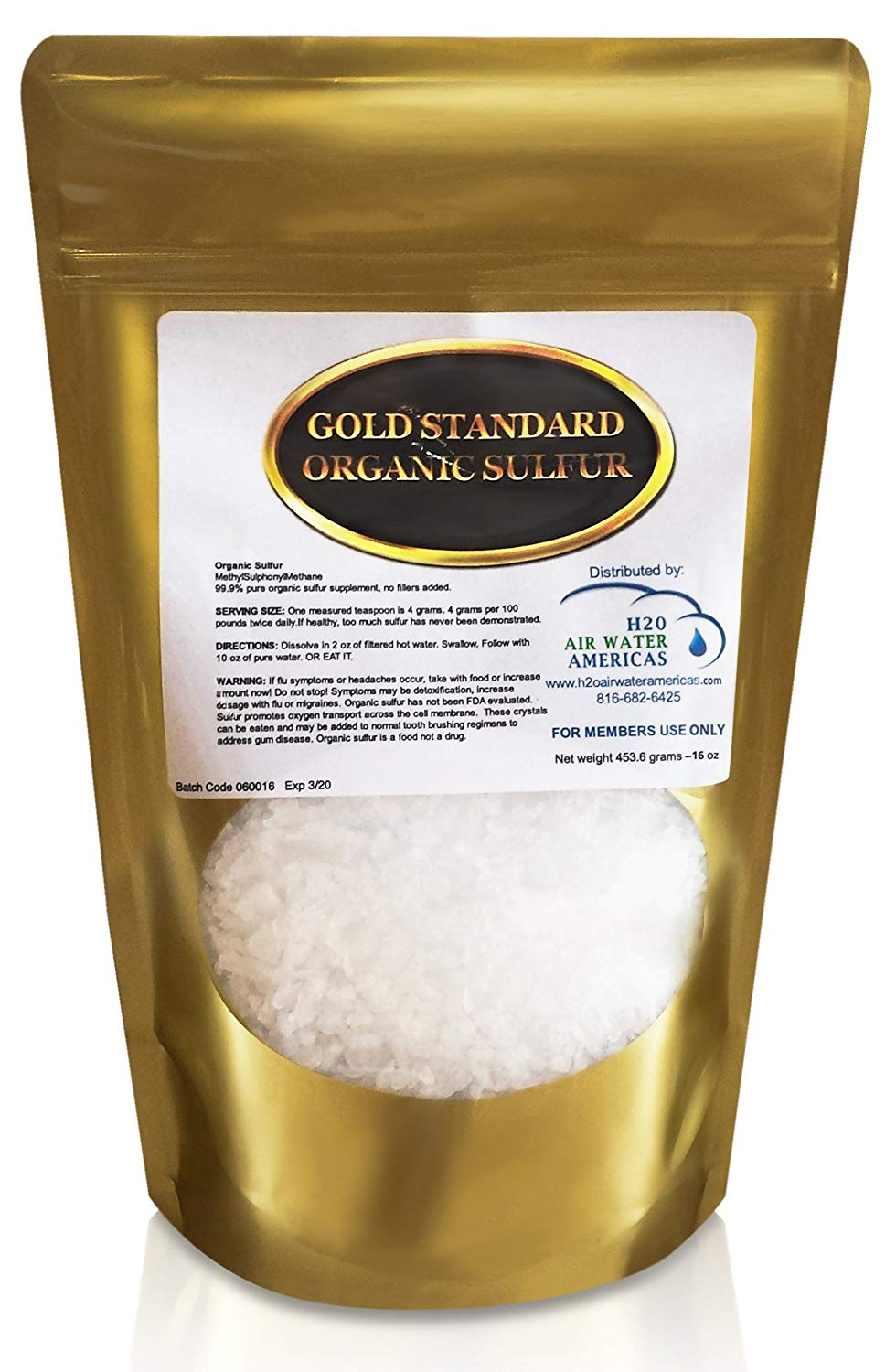 Organic Sulfur Crystals Prolean Wellness Shop Supplements